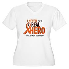 Never Knew A Hero 2 ORANGE (Mom) T-Shirt