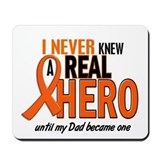 Never Knew A Hero 2 ORANGE (Dad) Mousepad