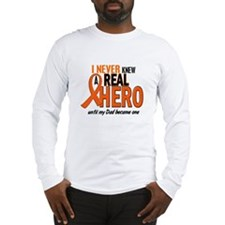 Never Knew A Hero 2 ORANGE (Dad) Long Sleeve T-Shi