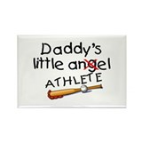 Daddy's Little Athlete (Baseball) Rectangle Magnet