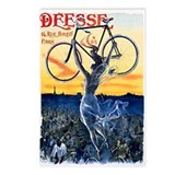 Vintage Bicycle Girl Postcards (Package of 8)