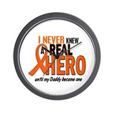 Never Knew A Hero 2 ORANGE (Daddy) Wall Clock