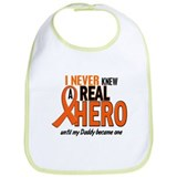 Never Knew A Hero 2 ORANGE (Daddy) Bib