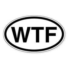 wtf: Oval Decal