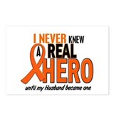 Never Knew A Hero 2 ORANGE (Husband) Postcards (Pa