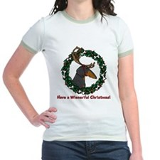 Reindeer BT Weiner Dog T