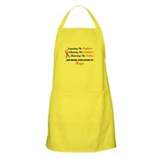 Supporting Admiring Honoring 1 LEUKEMIA BBQ Apron