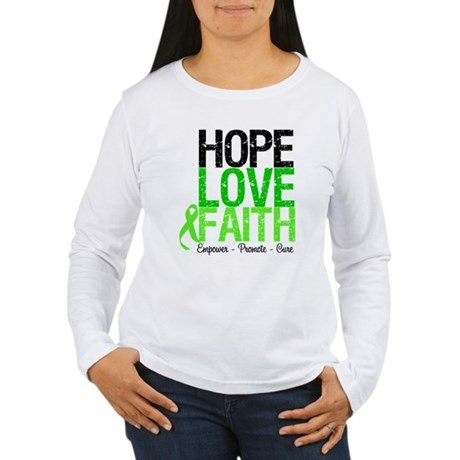 Lymphoma Hope Love Faith Women's Long Sleeve T-Shi