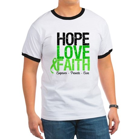 Lymphoma Hope Love Faith Ringer T