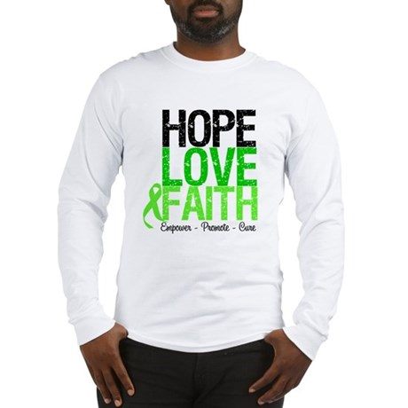 Lymphoma Hope Love Faith Long Sleeve T-Shirt