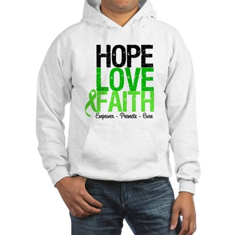 Lymphoma Hope Love Faith Hooded Sweatshirt