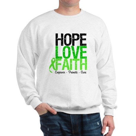 Lymphoma Hope Love Faith Sweatshirt