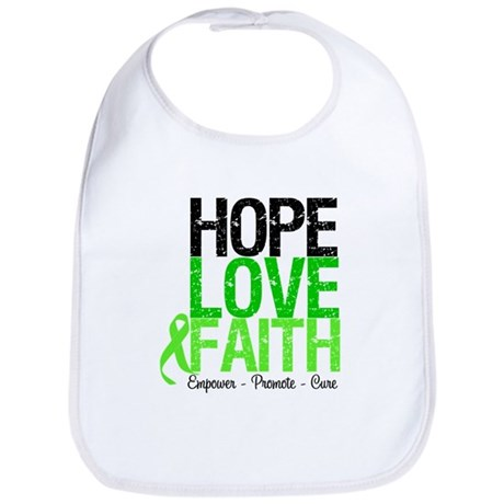 Lymphoma Hope Love Faith Bib