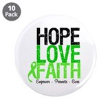 "Lymphoma Hope Love Faith 3.5"" Button (10 pack)"