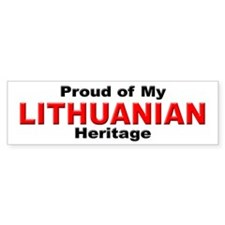 Proud Lithuanian Heritage Bumper Bumper Sticker
