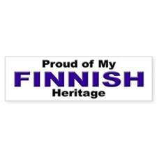 Proud Finnish Heritage Bumper Bumper Sticker