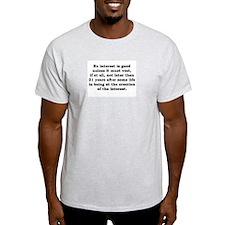 Rule Against Perpetuities Ash Grey T-Shirt