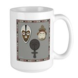 Yoruba and Ashanti Masks_grey Mug