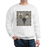 Yoruba and Ashanti Masks_grey Sweatshirt