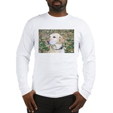 Yellow Lab #2 Portrait Long Sleeve T-Shirt