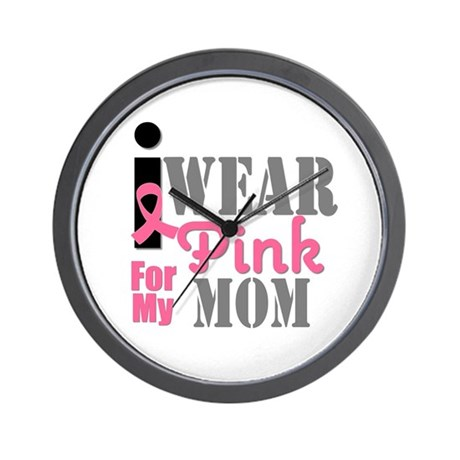 IWearPink Mom Wall Clock
