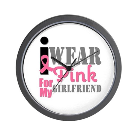 IWearPink Girlfriend Wall Clock