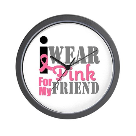 IWearPink Friend Wall Clock