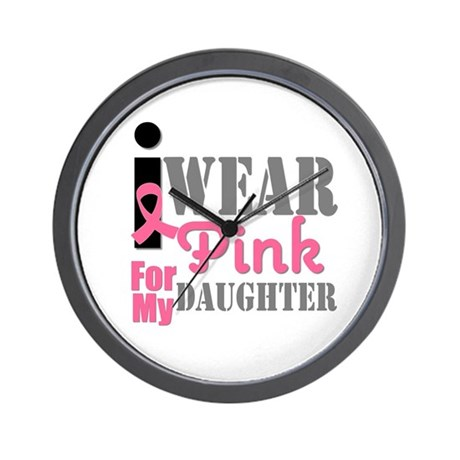 IWearPink Daughter Wall Clock