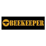 Beekeeper Stencil Bumper Car Sticker