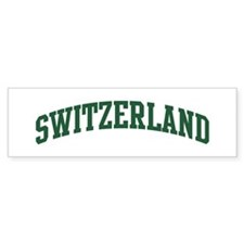 Switzerland (green) Bumper Bumper Sticker