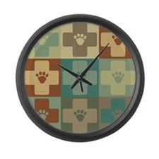Veterinary Medicine Pop Art Large Wall Clock