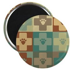 "Veterinary Medicine Pop Art 2.25"" Magnet (10 pack)"