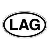 LAG Oval Decal