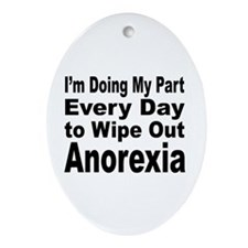 Anorexia Anti Diet Keepsake (Oval)