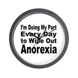 Anorexia Anti Diet Wall Clock