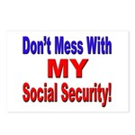 Don't Mess with My Social Security Postcards (Pack