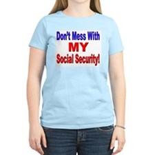 My Social Security (Front) Women's Pink T-Shirt