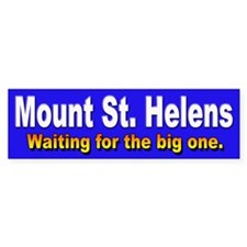 Mount St. Helens Bumper Car Sticker