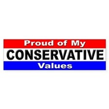 Conservative Values Bumper Bumper Sticker
