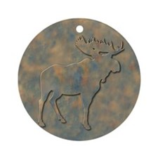 Moose Ornament (Round)