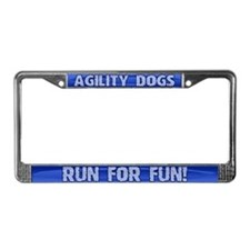 Run for Fun Agility License Plate Frame