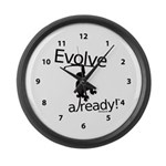 Monkey Chimp Evolve Already Clock Large Wall Clock