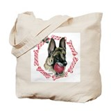 German Shepherd Xmas Tote Bag