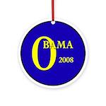 Blue O: Obama 2008 Christmas Ornament
