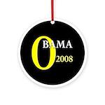 O for Obama 2008 Ornament (Round)