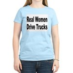 Real Women Drive Trucks Women's Pink T-Shirt