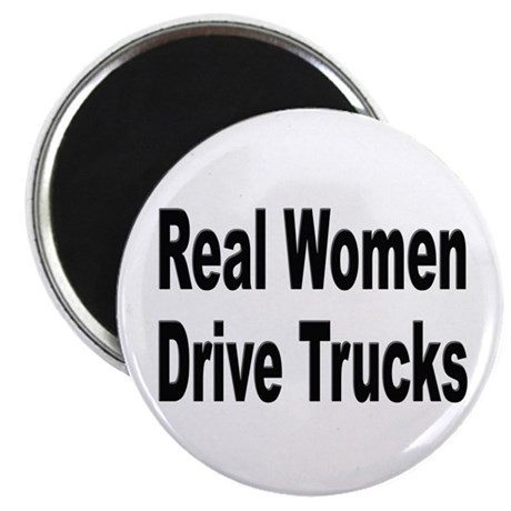 Real Women Drive Trucks Magnet