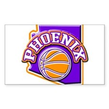 Phoenix Basketball Rectangle Decal