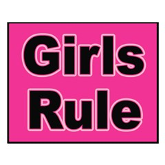 Girls Rule Small Poster