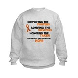 Supporting Admiring Honoring 3 LEUKEMIA Sweatshirt